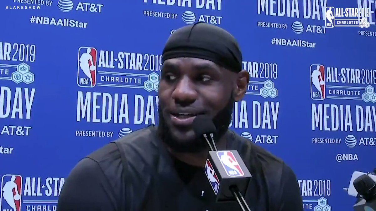 🎥 LeBron James speaks at NBA All-Star Media Day in Charlotte.