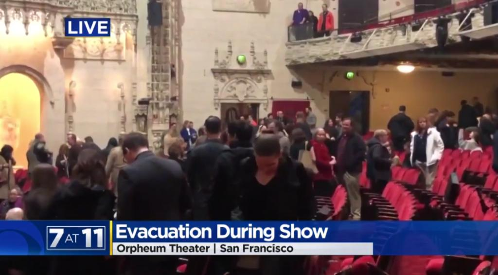 SAN FRANCISCO: Mass Panic At Hamilton Performance After False Shooter Alarm, Three Hospitalized [VIDEO] - https://is.gd/T9rHoA