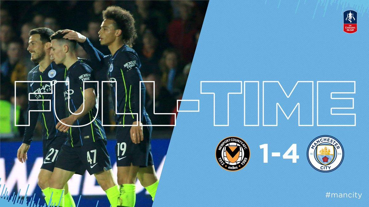 Xem lại Newport County vs Man City, 0h30 ngày 17/2 (FA Cup)