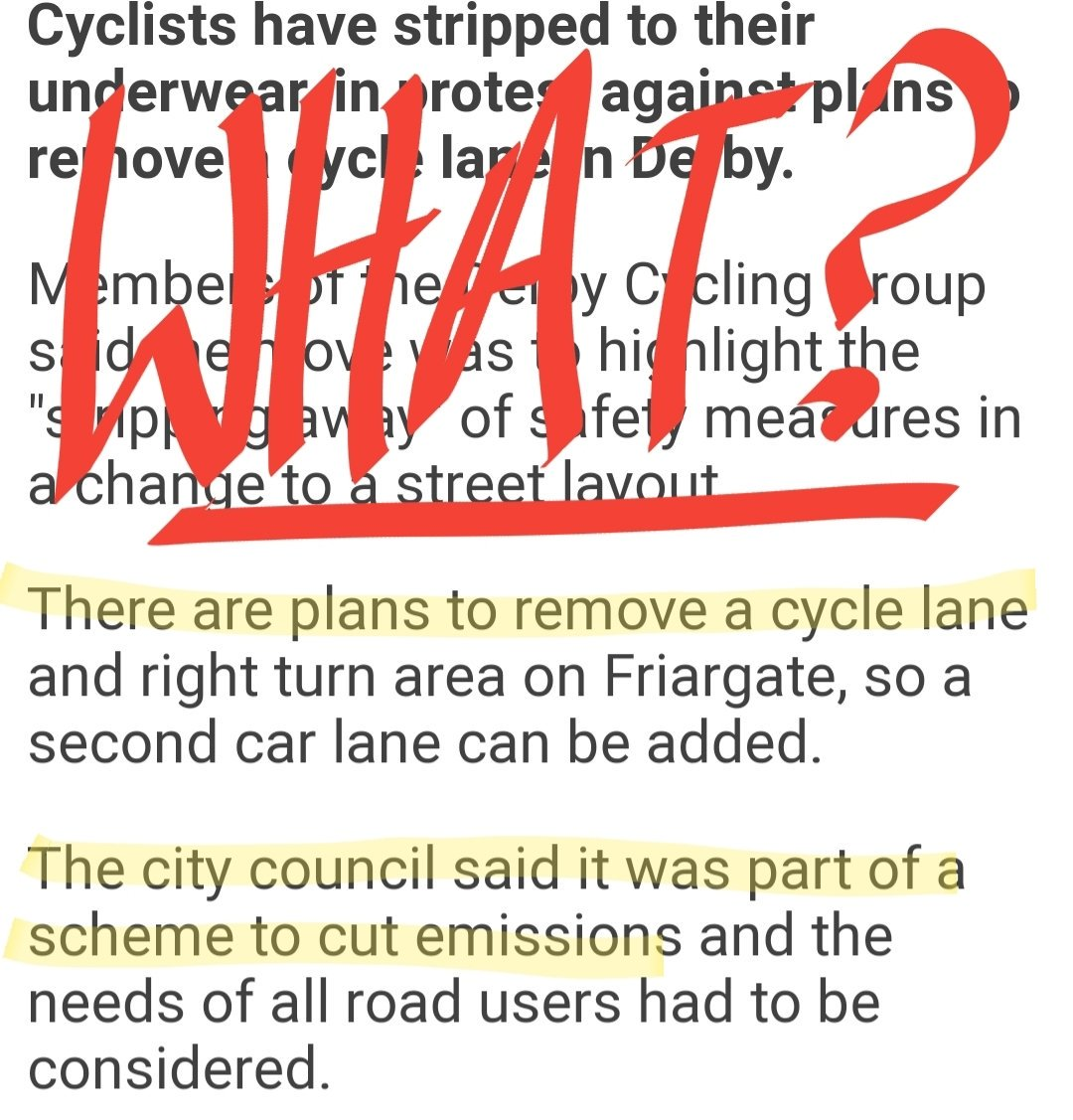 This stuff is beyond parody.  https://t.co/eVGttyYdX4 #DerbyCycleProtest