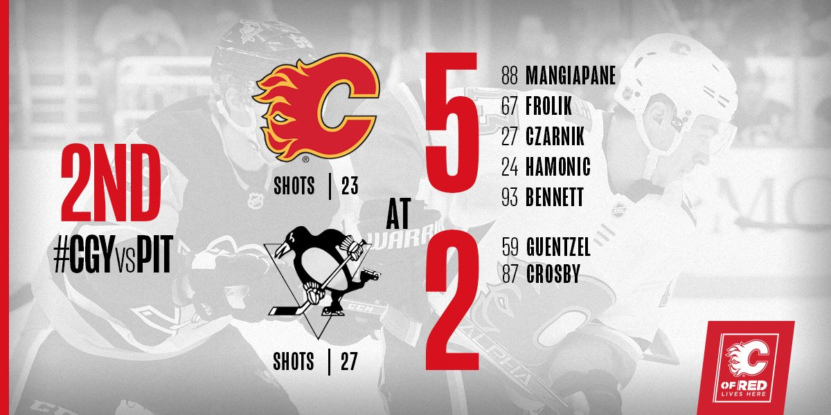 What a period! Bring it home, gents.   #CGYvsPIT | #Flames