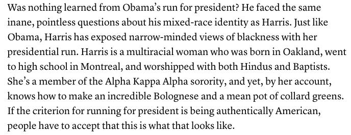'Kamala Harris's Blackness Isn't Up for Debate,' by @jemelehill in The Atlantic https://t.co/mJ9SA6Y9sT