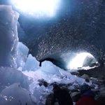 Image for the Tweet beginning: Stunning ice caves in Switzerland