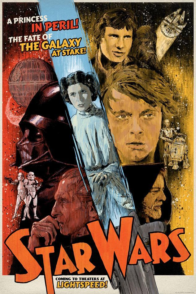 Poster S Paradise On Twitter Star Wars Episode Iv A New Hope 1977 633 X 950 Movie Poster Hollywood Cinema