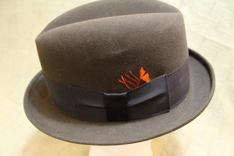 8ab0177ff237e Vintage Black Bradford Ltd. Fedora Trilby Homburg Formal Dress Hat Size 7 1 8  57cm https   etsy.me 2socZ2C  Vintage  AtticEsoterica  Etsy ...