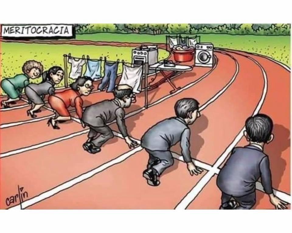 Una imagen (en este caso una viñeta) vale más que mil palabras. No dejaremos de luchar para que la carrera sea igualitaria y justa.
