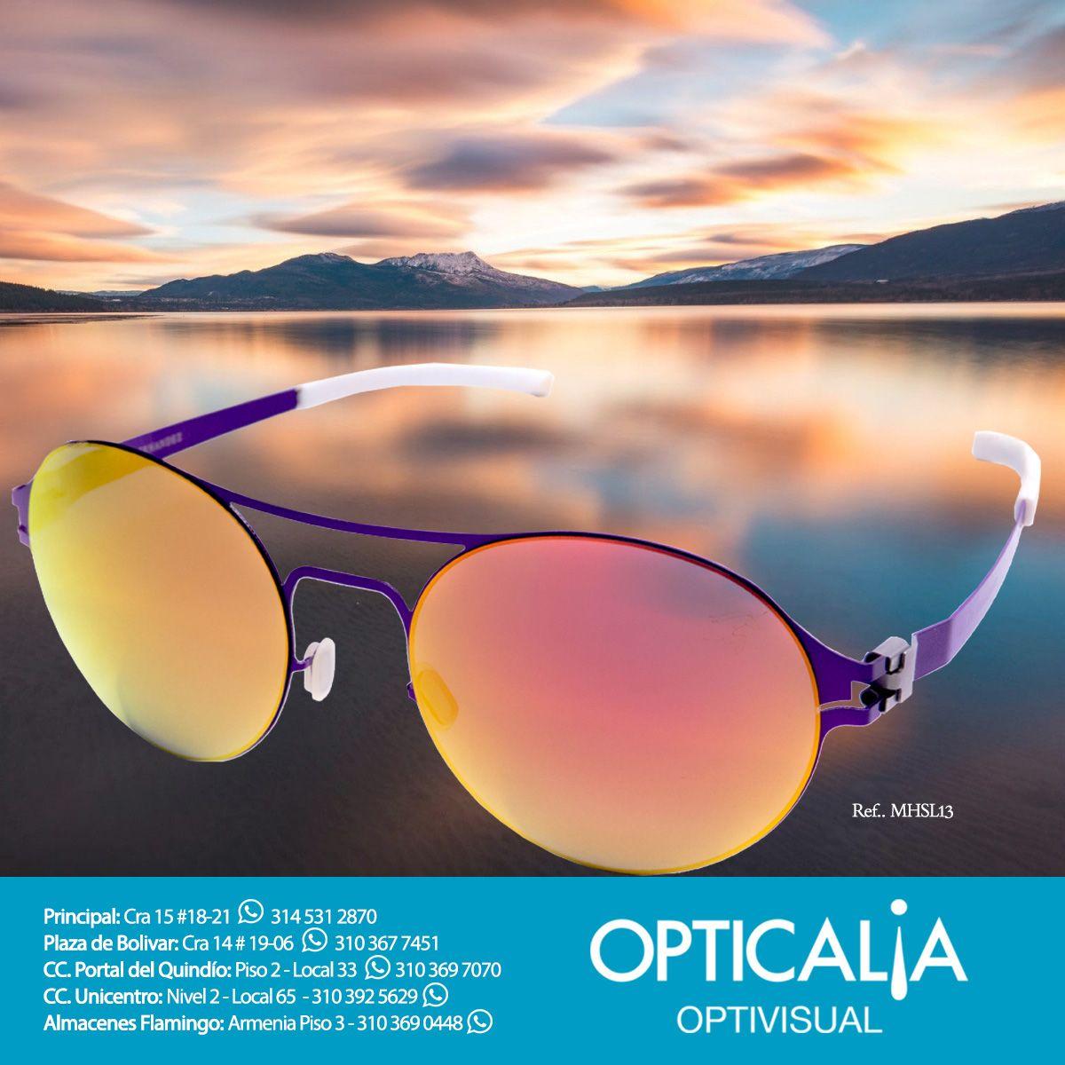 Encuentra gafas espejadas de Mario Hernández en nuestras tiendas #Opticalia #Optivisual en #Armenia y recuerda que si a tus gafas de sol favoritas se le han dañado los lentes, podrás mandarlos a hacer con nosotros en cualquier tonalidad y añadir espejado si quieres. ¡Visítanos!