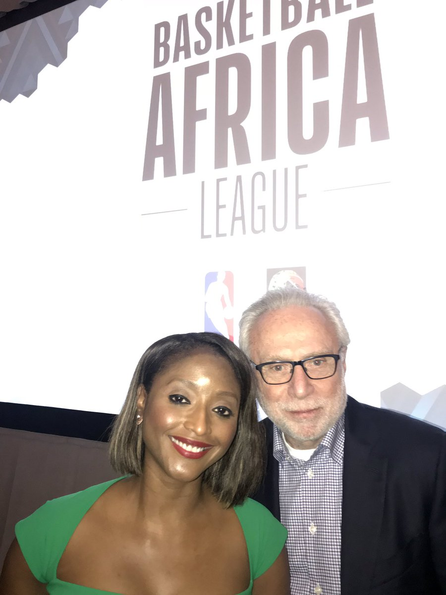 My former @CNN colleague and friend @IshaSesayCNN hosted the @NBA in Africa All-Star Weekend luncheon where Commissioner Adam Silver announced the creation of a 12 team professional basketball league in Africa starting next year.