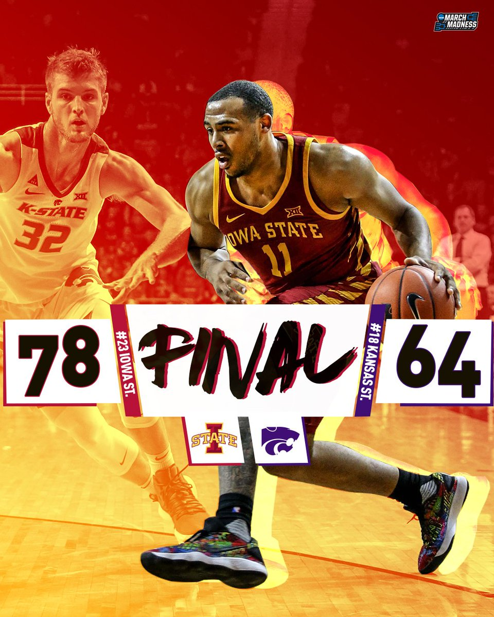 Another wild twist in the Big 12! 👀  No. 23 Iowa State shakes things up with the road W over the Big 12-leading Kansas State Wildcats!