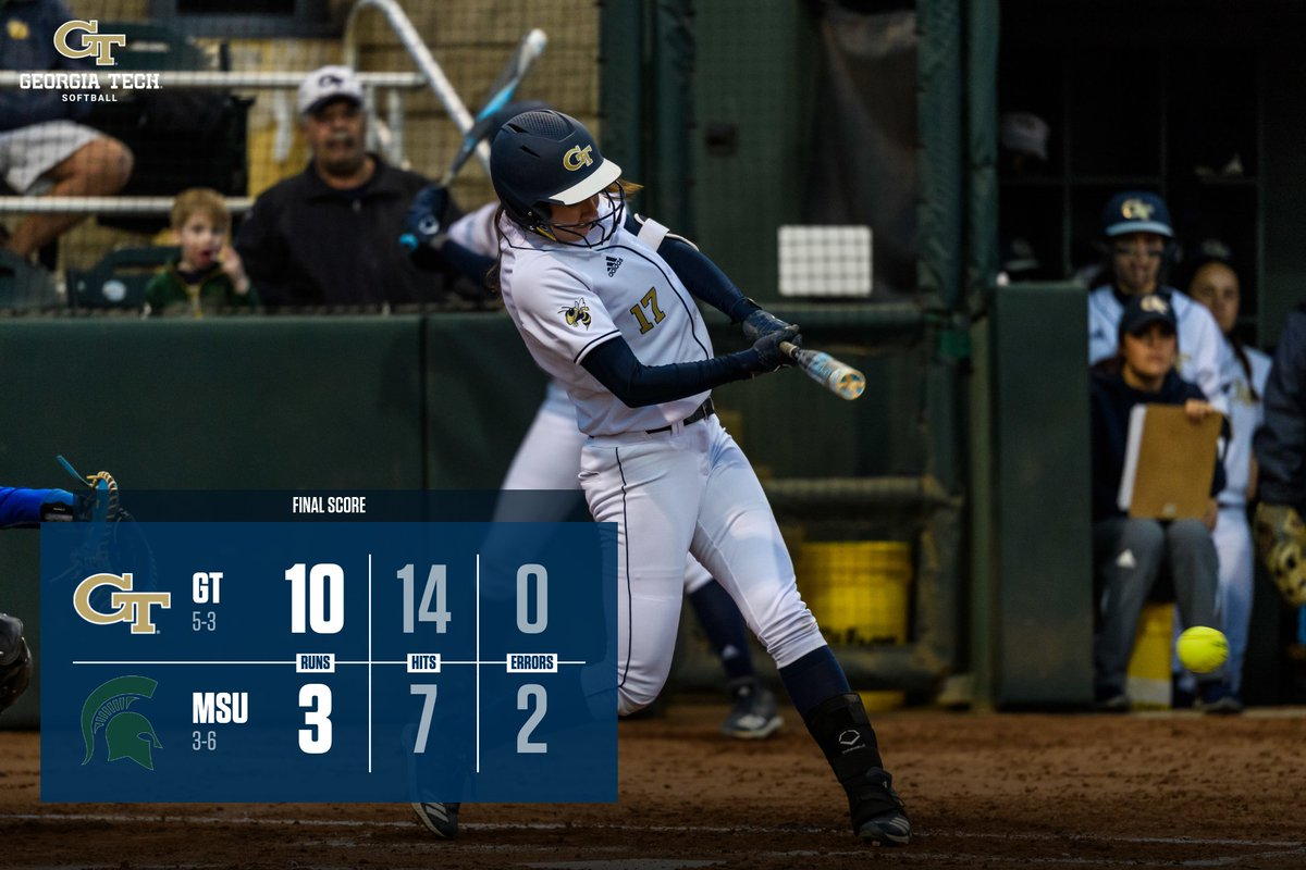 TECH WINS! Check back in as the Yellow Jackets take on Illinois at 5:30 p.m.