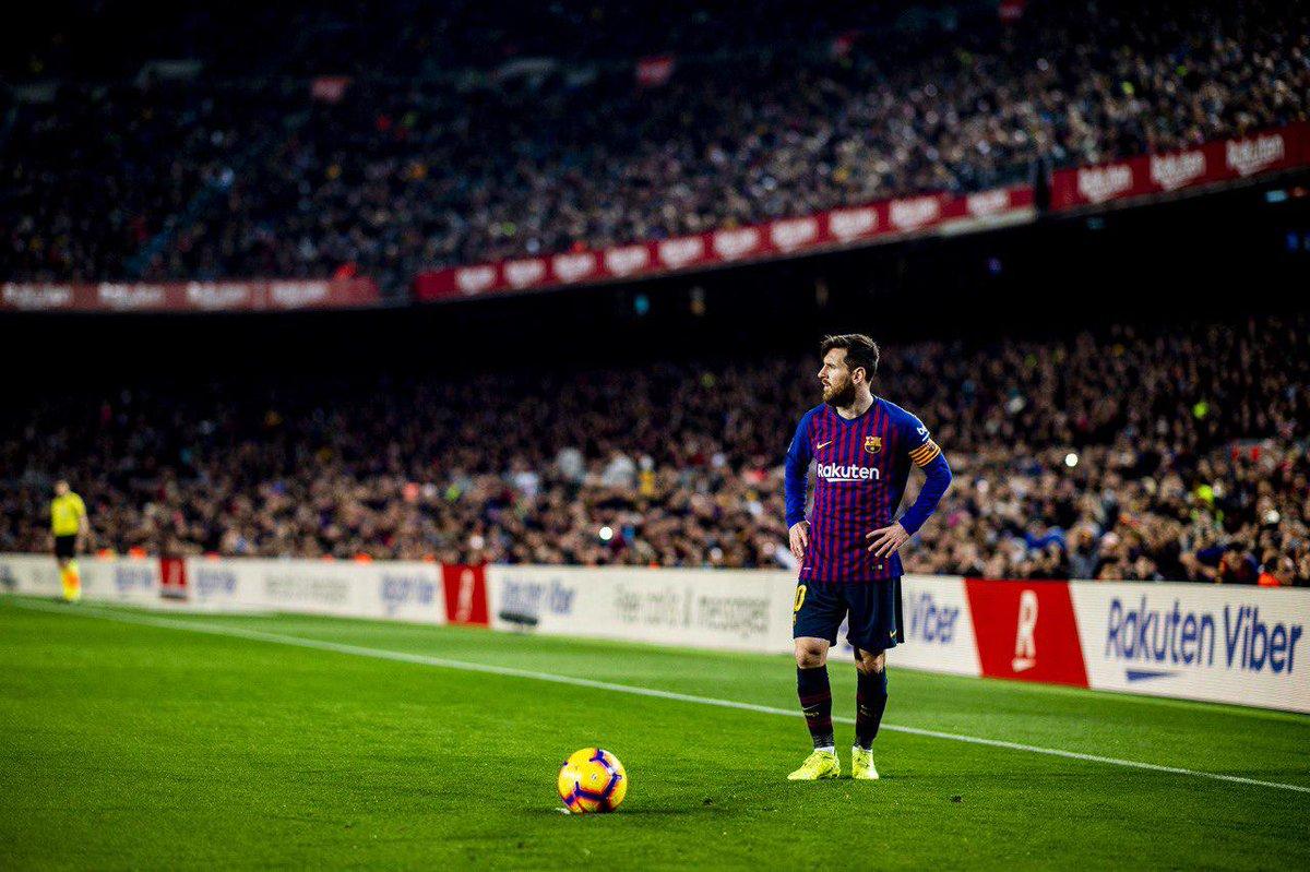 ⚽⚽⚽⚽⚽⚽⚽⚽⚽⚽⚽⚽⚽⚽⚽⚽⚽⚽⚽⚽⚽⚽ Penaltıdan topu ağlara yollayan Leo #Messi, bu sezon @LaLiga'daki 22. golünü kaydetti!  🔵🔴 #ForçaBarça