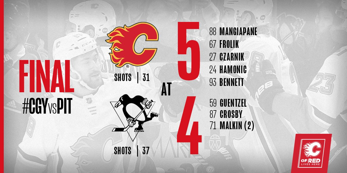 YOU CAN PUT IT IN THE WIN COLUMN!   #CGYvsPIT | #Flames