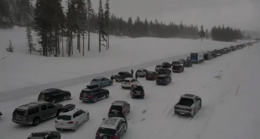 Multiple-vehicle crash near Donner Pass creates traffic nightmare on I-80 heading to Truckee http://dlvr.it/Qz3Hvk