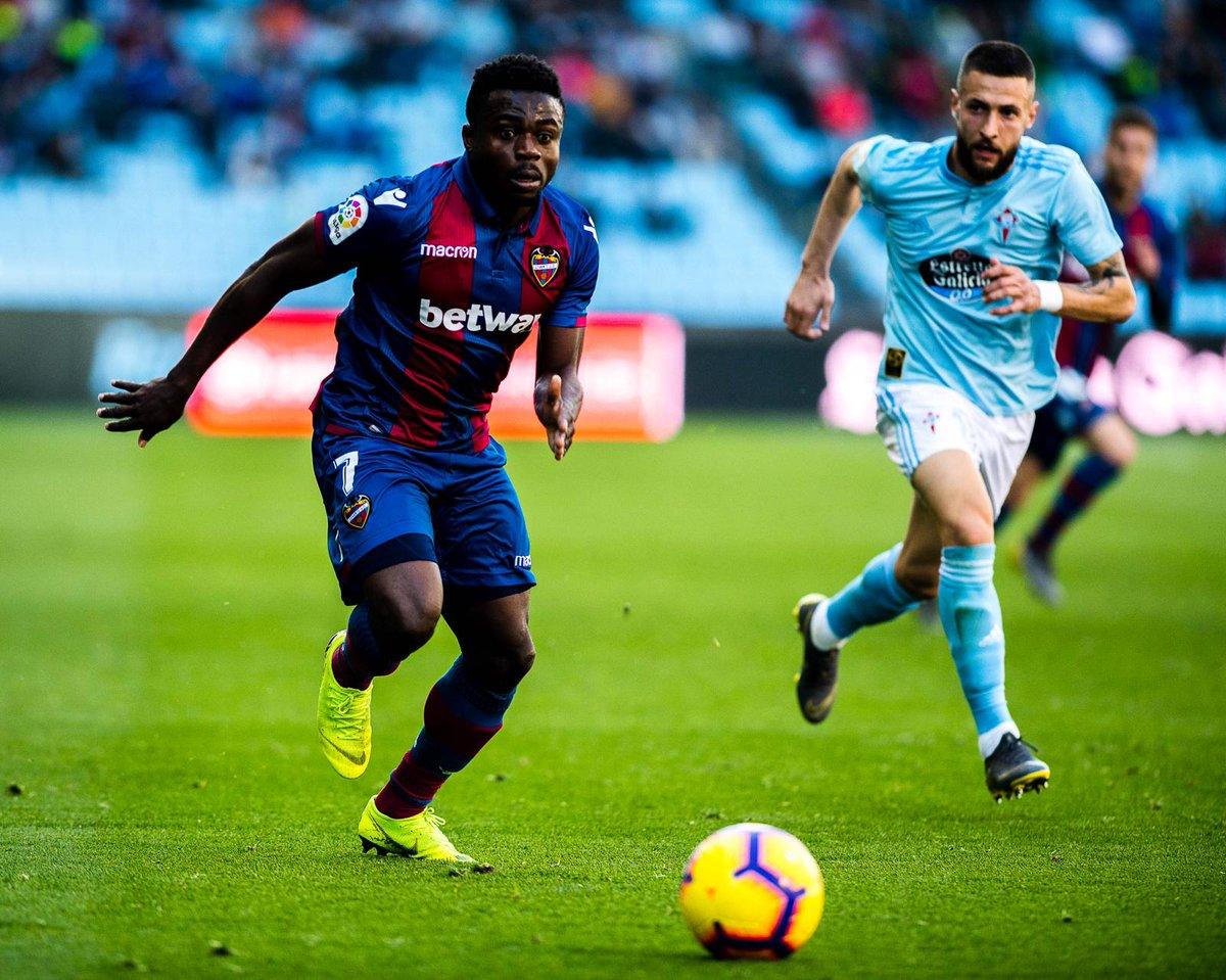 Moses Simon praises Levante's fighting spirit after Celta Vigo win