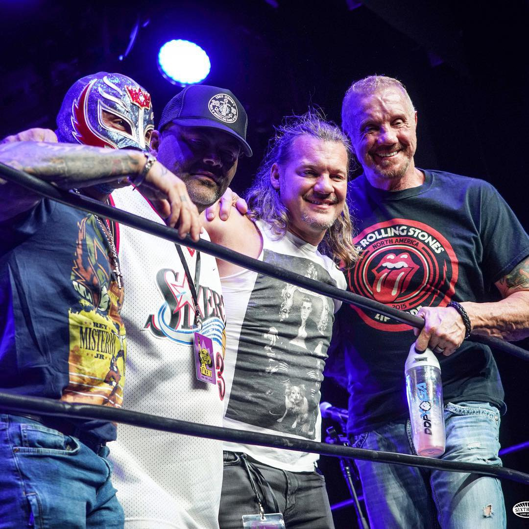 Had such a blast on the @jericho_cruise doing the Tribute to Eddie Guerrero Podcast  Love these guys💥 @IAmJericho @reymysterio @Konnan5150   If you guys have the chance you do not want to miss the next Rock N Wresting Cruise Jan 20-24th 2020, tickets are on Pre-Sale NOW! DDP💎