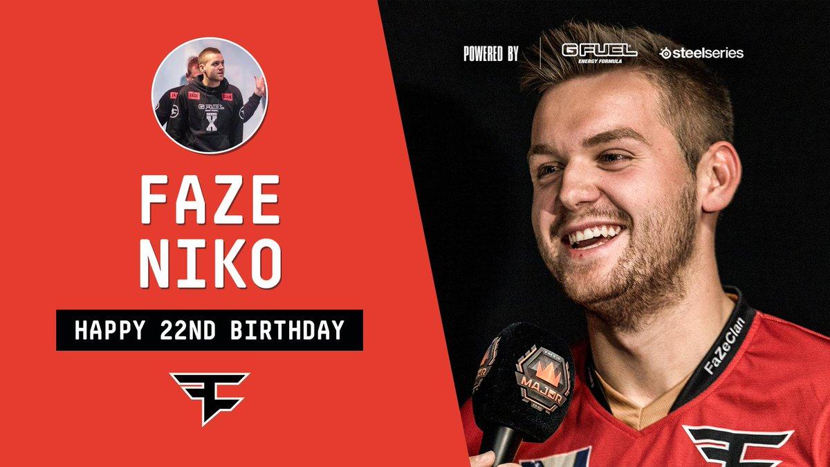 Happy 22nd Birthday to @fazeniko! 🎂🍾