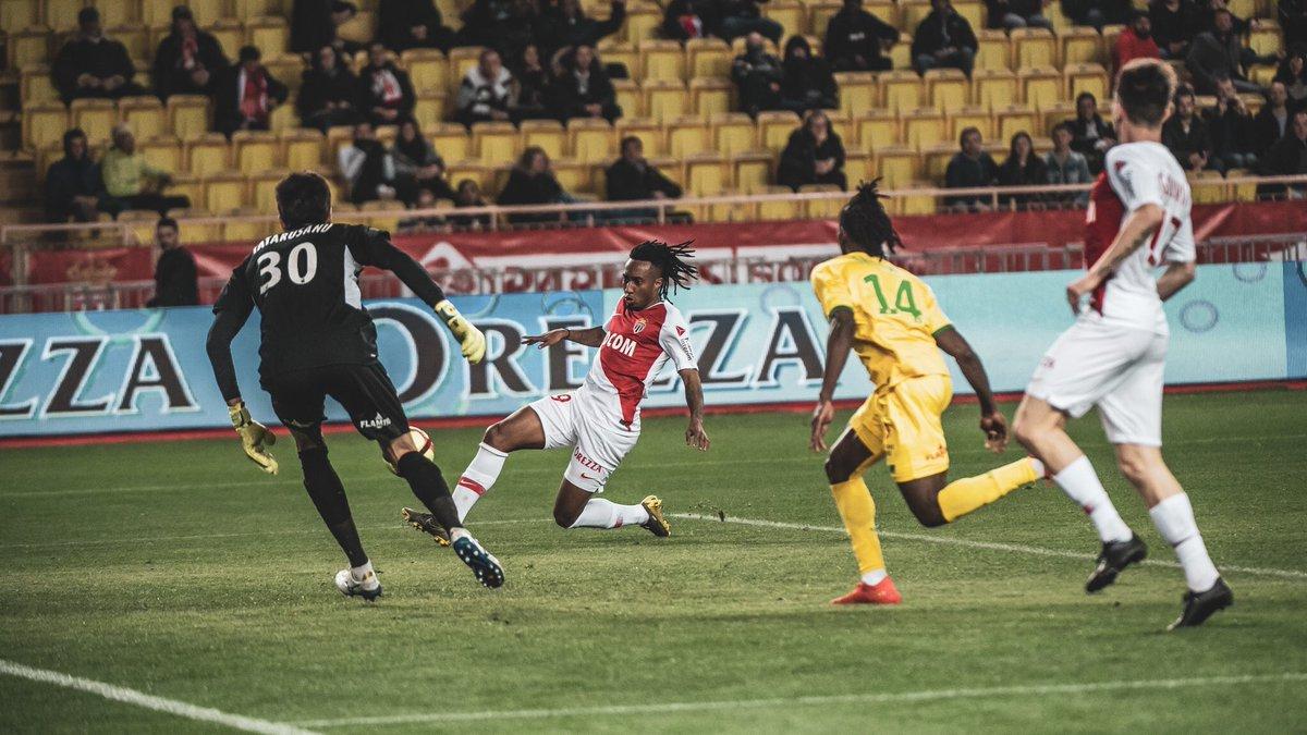 #Ligue1 | #ASMFCN  1 but de Gelson Martins et Monaco s'impose 1-0 face à Nantes ! Bouffée d'oxygène pour les Monégasques qui sont désormais 16èmes !