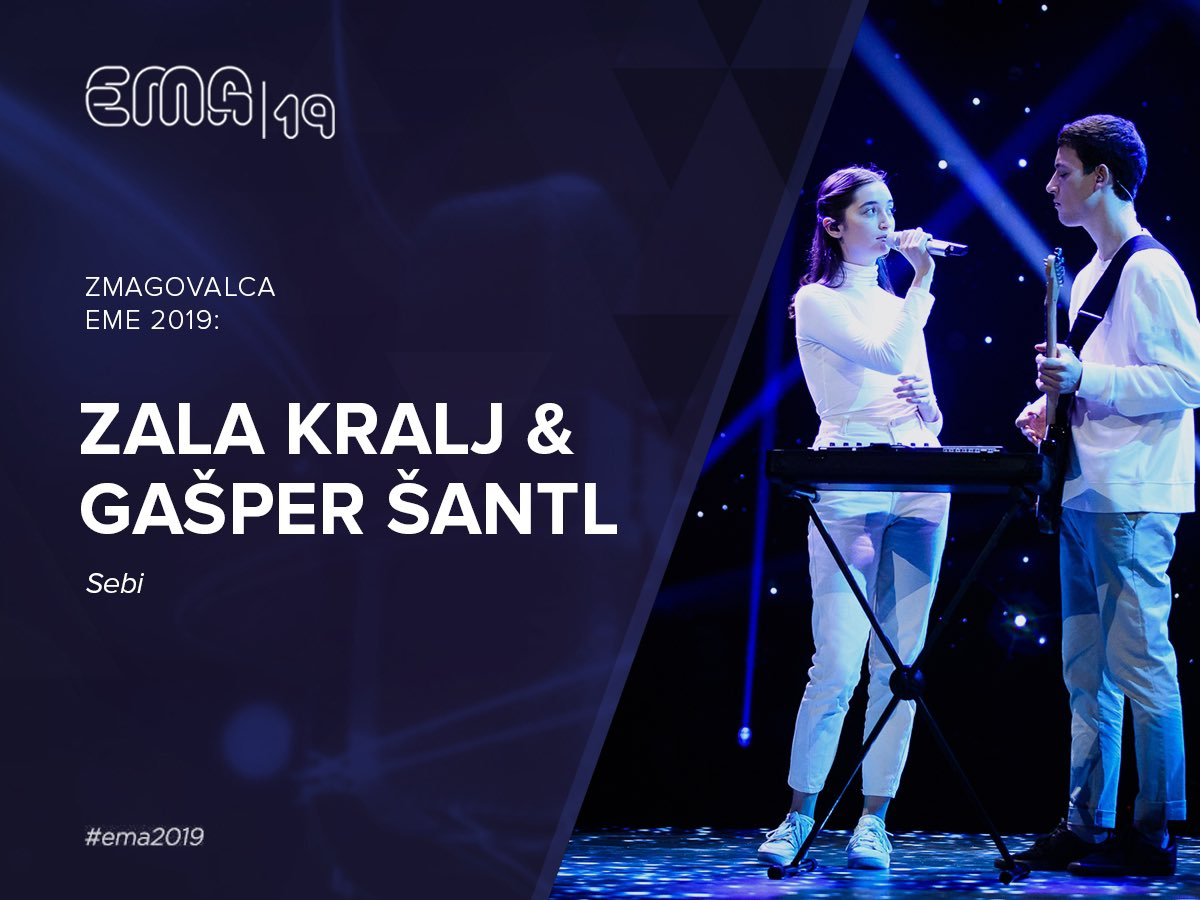 ZMAGOVALCA EME 2019 sta: Zala Kralj & Gašper Šantl 👏🙌😍🎶