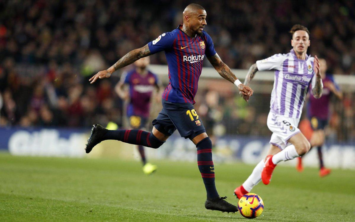 🔁 59' Substituição no Barça   🔼 @LuisSuarez9  🔽 @KPBofficial   ⚽️ #BarçaValladolid (1-0)  🔵🔴 #ForçaBarça https://t.co/AKv7DunEzp