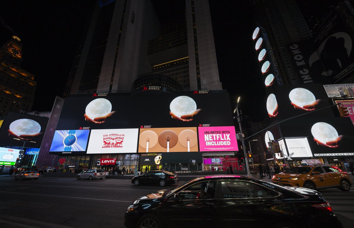 Performed, produced & edited by artist Virginia Lee Montgomery, HONEY MOON is this month's dreamlike #MidnightMoment. Presented by @tsqarts in partnership with Socrates Sculpture Park, HONEY MOON will be displayed in #TimesSquare nightly at 11:57pm: http://bit.ly/2I408Ov.