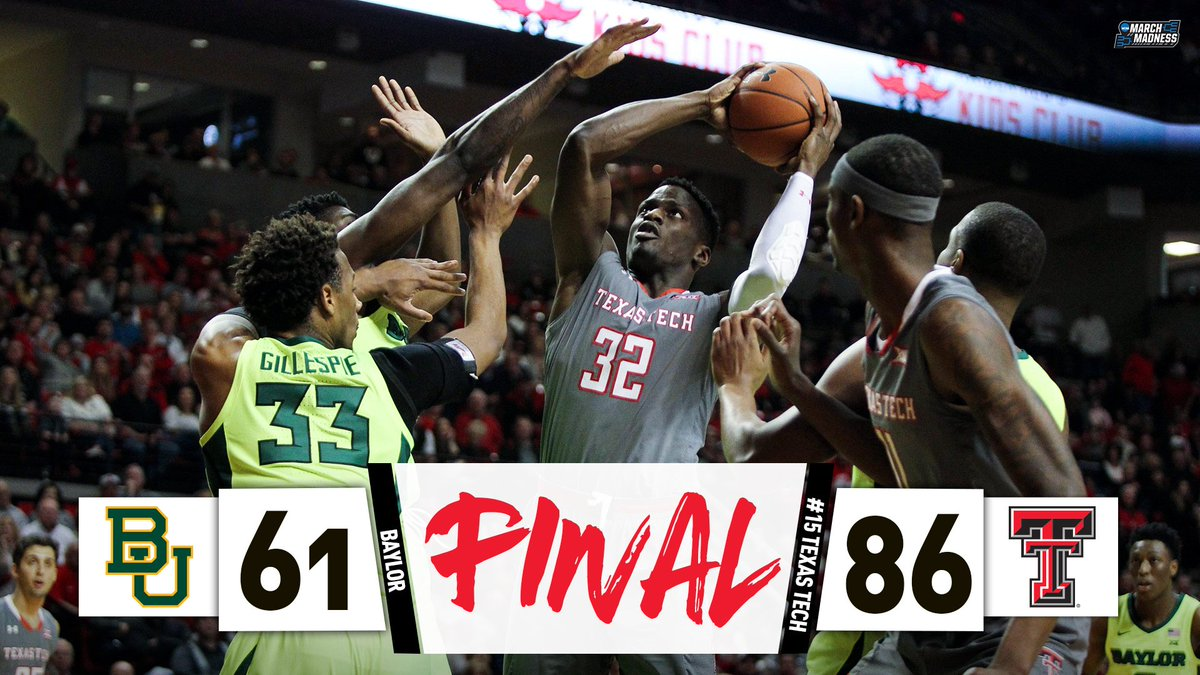 4 in a row for the Red Raiders!  No. 15 Texas Tech stays in the Big 12 hunt with the dominant win over Baylor!