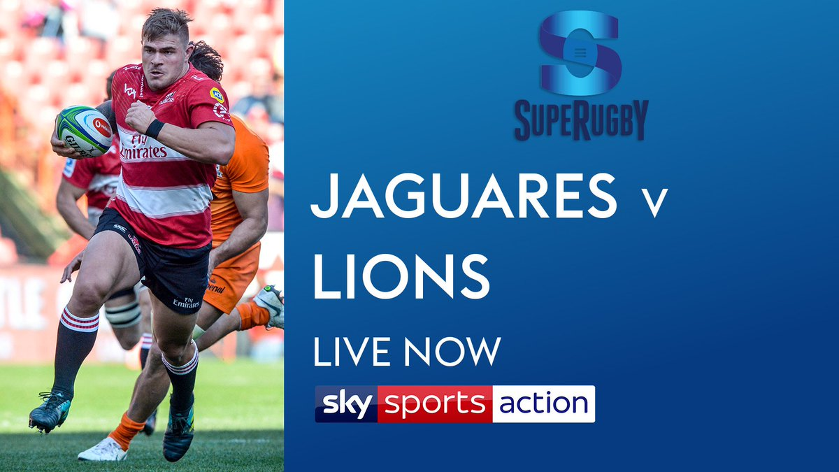 test Twitter Media - Your final instalment of @SuperRugby is live now on @SkySports Action.   Last year's losing finalists @LionsRugbyCo 🇿🇦 are in Argentina to begin their 2019 campaign against @JaguaresARG 🇦🇷. Why don't you join us?! https://t.co/m3MQWsvDAp