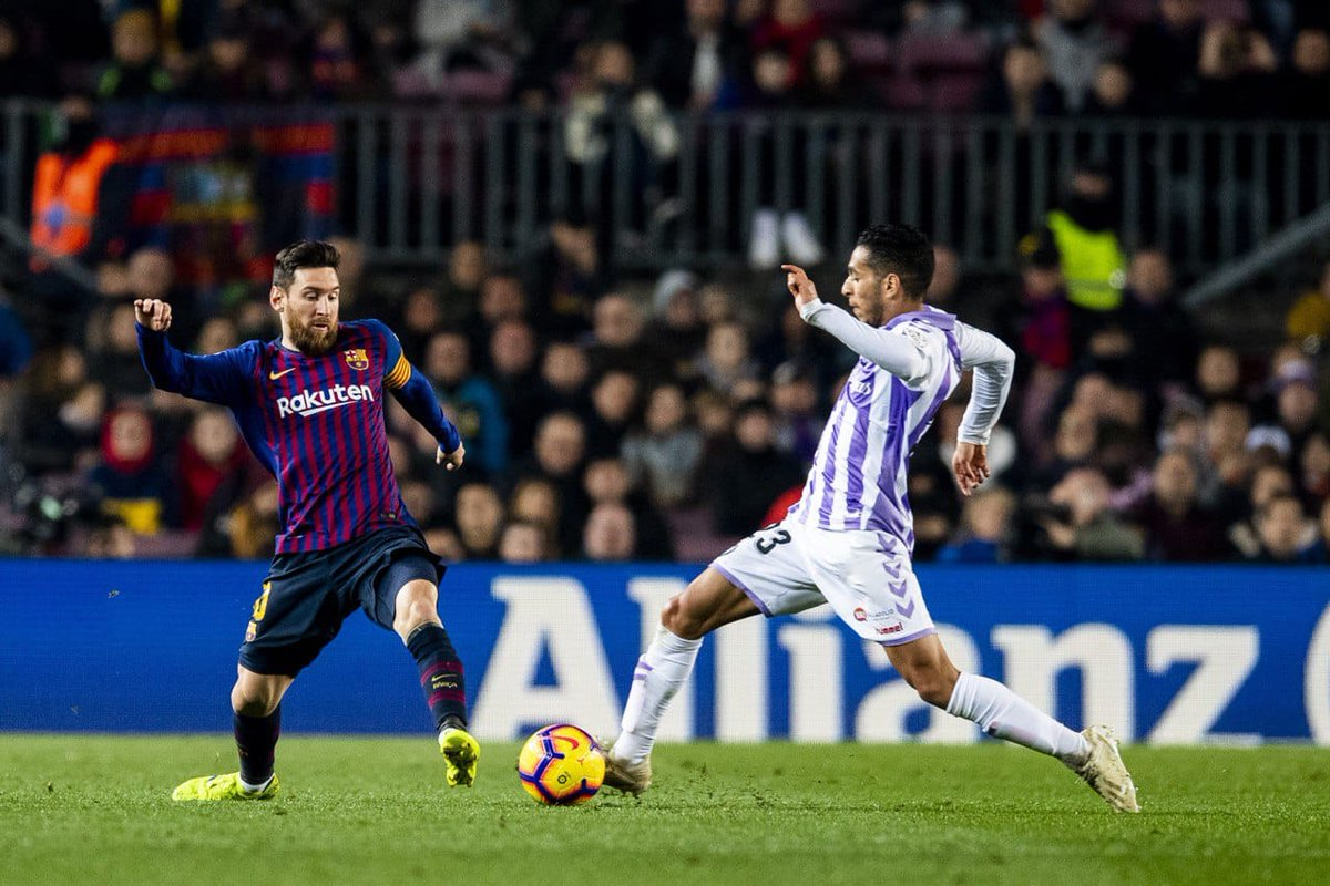Leo #Messi scored the lone goal in #BarçaValladolid, giving him a new milestone — 1️⃣1️⃣ straight years scoring at least 3️⃣0️⃣ goals across all competitions! 👏👏👏