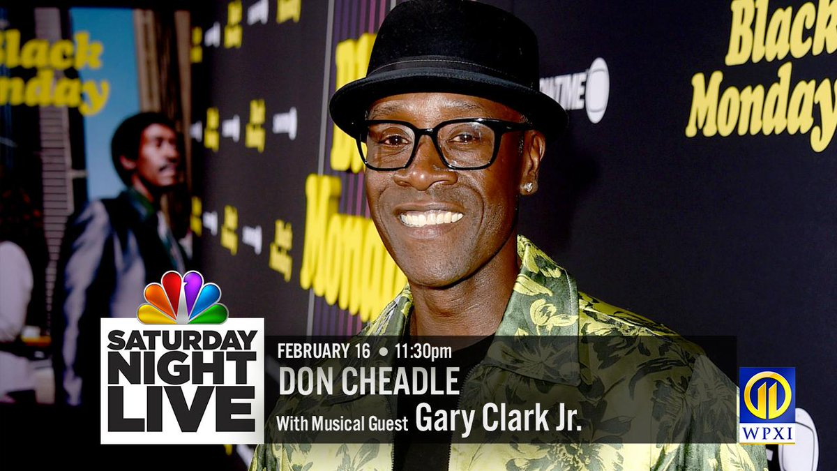 TONIGHT: Don't miss an all-new #SNL with @DonCheadle and musical guest @GaryClarkJr on Channel 11.