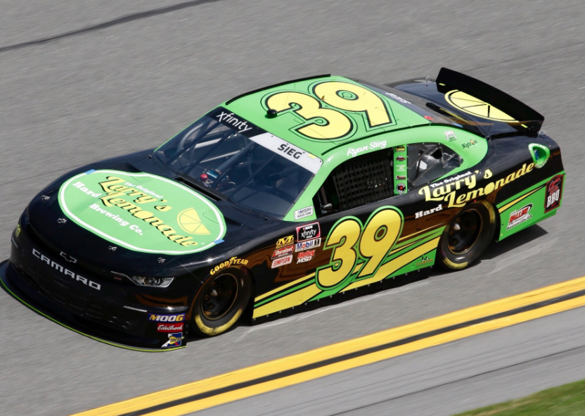 Great start to 2019 for @RyanSiegRacing he takes his 4th career #XfinitySeries top five in 4th. Three of the four have come at @DISupdates. He earned a nice cool lemonade. 🍋
