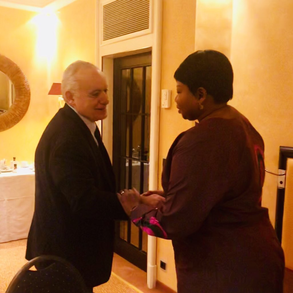 SRSG @GhassanSalame met with the International Criminal Court chief prosecutor Fatou Bensouda to discuss the implementation of international law in #Libya. The SRSG availed his full support for @IntlCrimCourt  efforts.