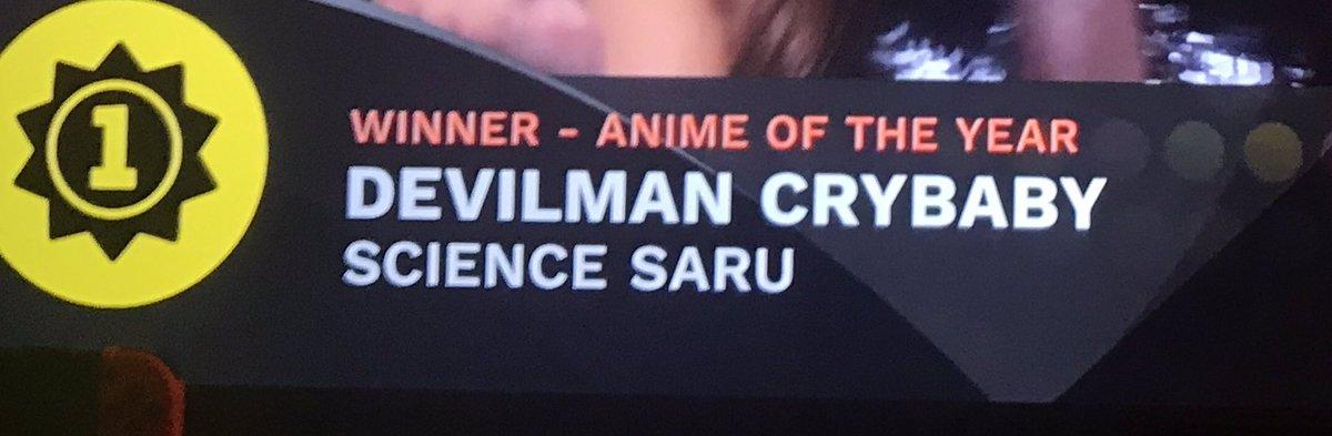 YOU DAMN RIGHT #AnimeAwards <br>http://pic.twitter.com/bMeHVPZ9D5