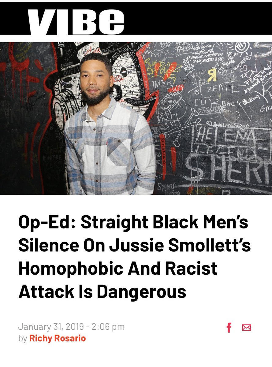 Vibe magazine owes me (because I was specifically named in this article) and other straight Black men an apology for this article they put out about the Jussie Smollett LGBT hoax