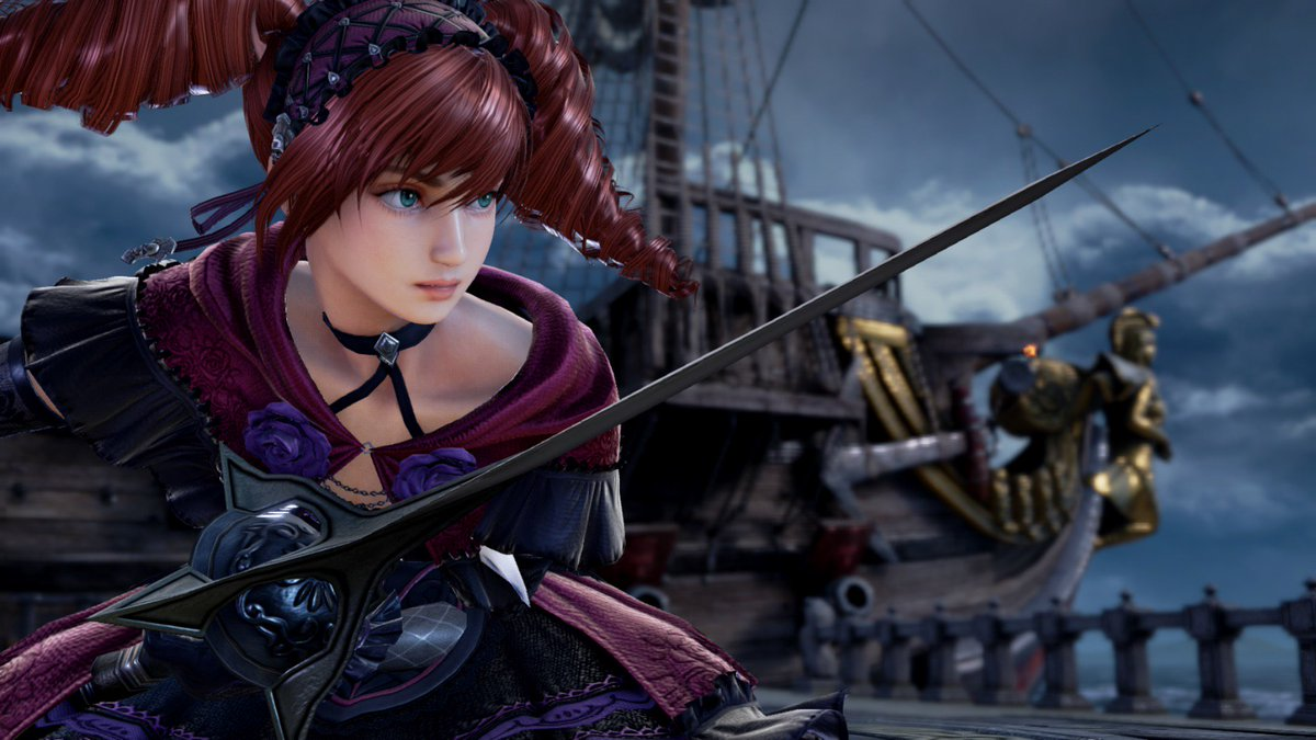 Amy returns to the Stage of History in the upcoming DLC for #SOULCALIBURVI! Her steady rapier attacks and sharp focus will make her a worthy opponent.  Get ready to play the latest DLC by ordering the SOULCALIBUR VI season pass:  https://t.co/x53aiJ8q4c