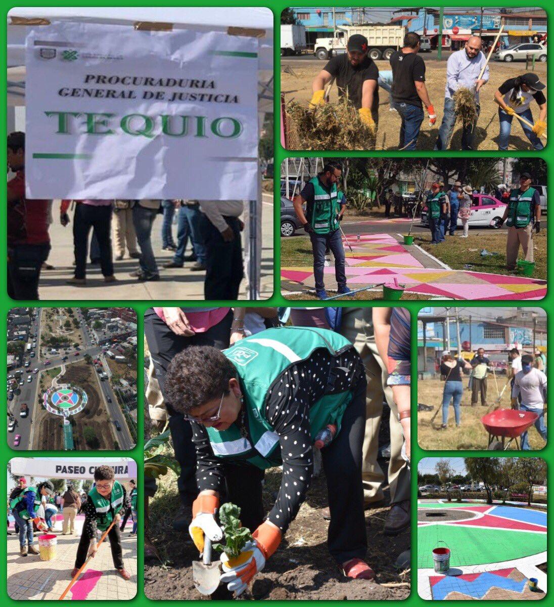 #SábadoDeTequio en el Corredor Mujeres Libres en la @Alc_Iztapalapa participan funcionarios de la @PGJDF_CDMX de todas las áreas.  Agradezco la disposición y el ánimo para recuperar los espacio públicos de nuestra ciudad #GobernarEsServir