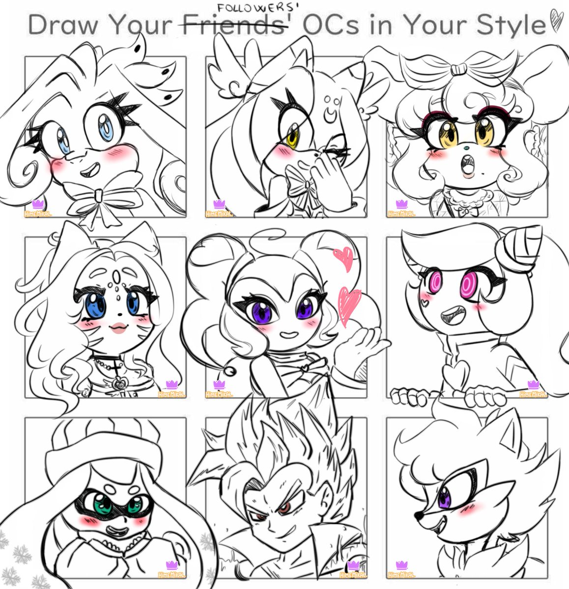Gosh, this mini raffle was so fun! Even if now I'm tired xD Hope you like them! Like I said you were so many so I decided to pick different ocs and draw them not only Sonic <3 This was a wonderful experience uvu Soon I'll do another one on my other sites <3 Thank you everybody!