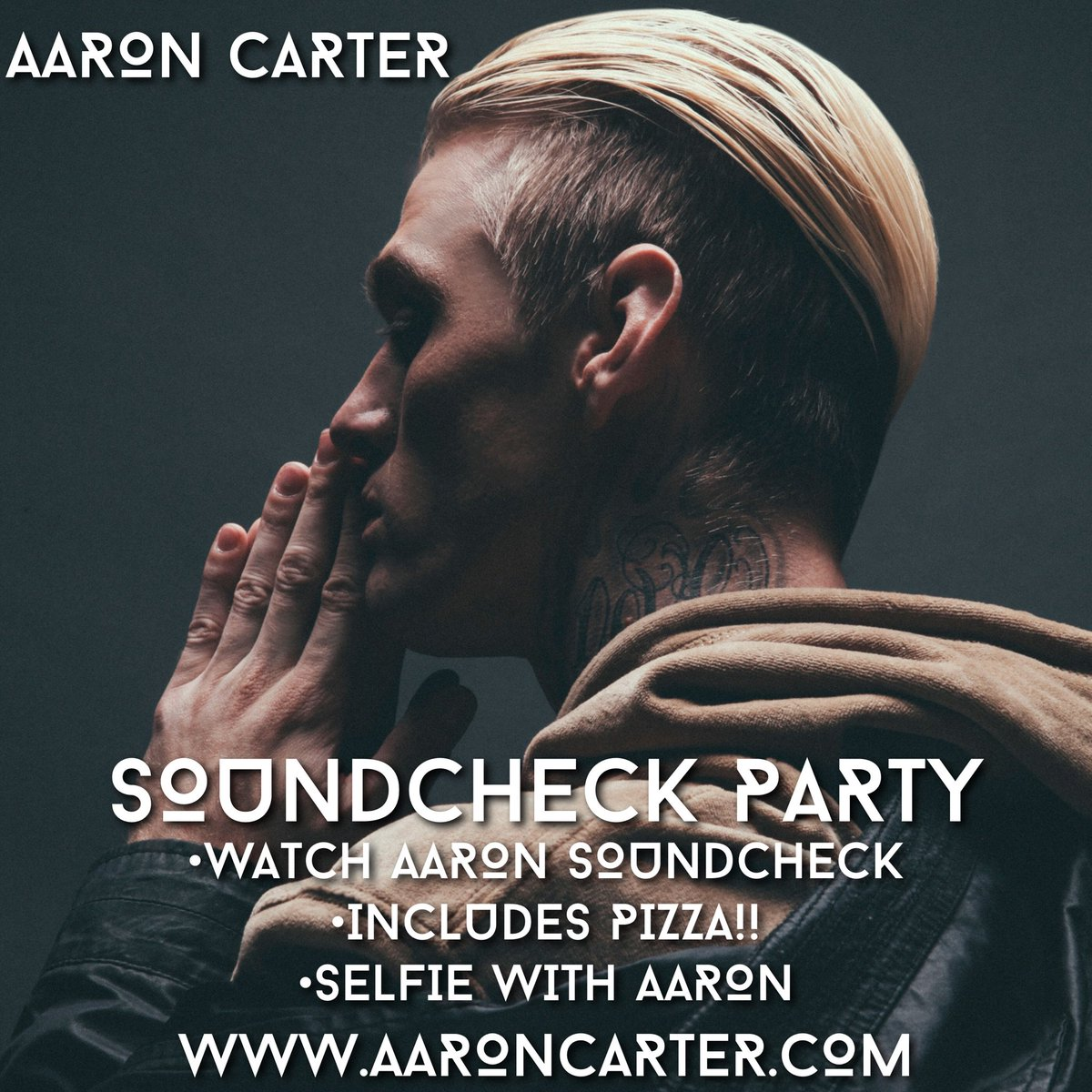 Get your soundcheck tickets directly from my website!! https://t.co/Gr7IftfdM8 can't wait to see you guys on the road. Remember this is a completely separate event from VIP meet and greets and does not include general admission tickets.