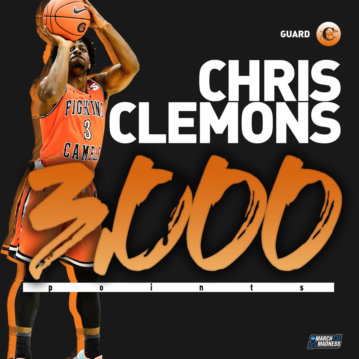 Mr. 3️⃣0️⃣0️⃣0️⃣  Congrats to Campbell's Chris Clemons on becoming the 9th D1 player with 3,000 career points! 👏