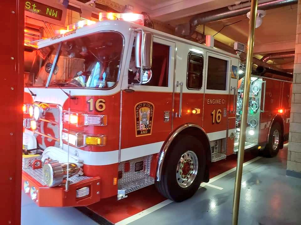 'The Midnight Express', Engine Co. 16 located in our Franklin Square firehouse, is ready to roll with their brand new Pierce pumper, placed in service today.