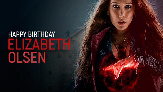 Die Schauspielerin von Scarlet Witch, ELIZABETH OLSEN wird heute 30 Jahre alt.  Happy Birthday Elizabeth!