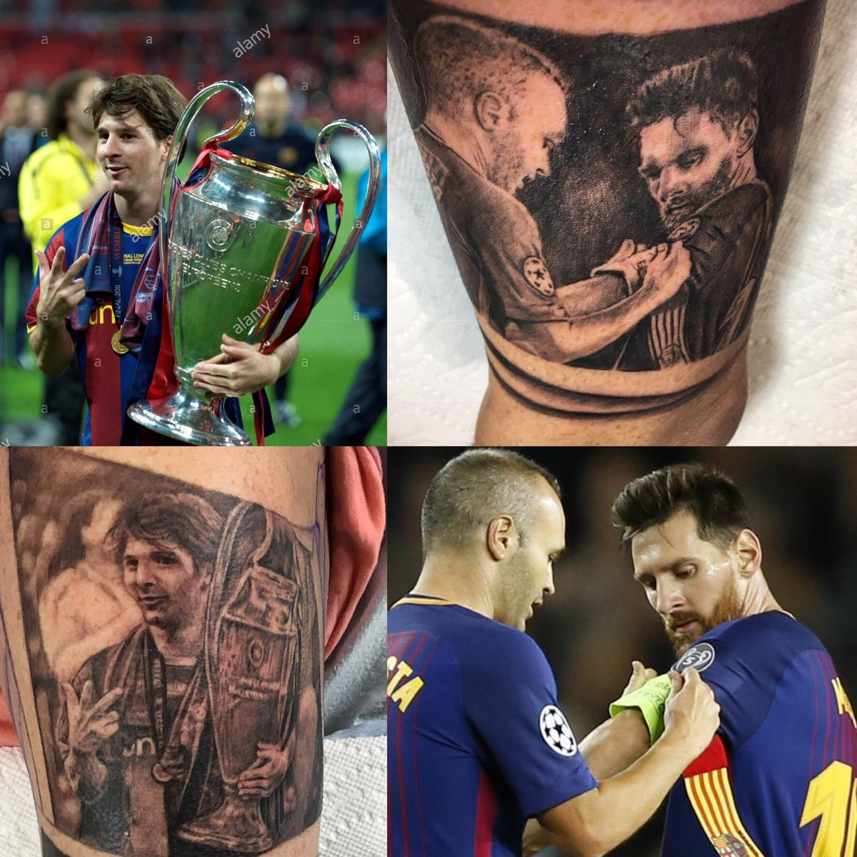 Still a bit of work to be done on the current project but I'm proud to have these works of art from @Nestor_Ace on my living gallery. He is the real talent I am just the canvas. Blaugrana for Life 🤷🏽♂️❤️💙😉😜🖼 🎨💉