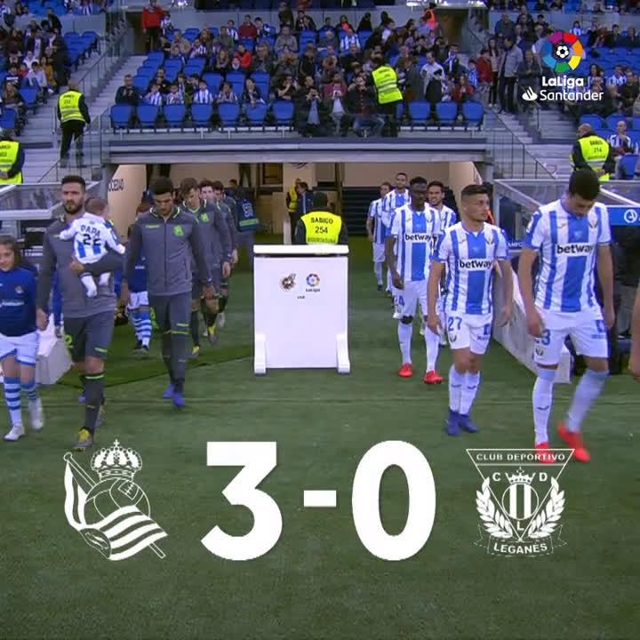 """ملخص  ثلاثية """"ريال سوسيداد"""" في مرمى """"ليغانيس"""" ⚽⚽⚽  #RealSociedadLeganés"""