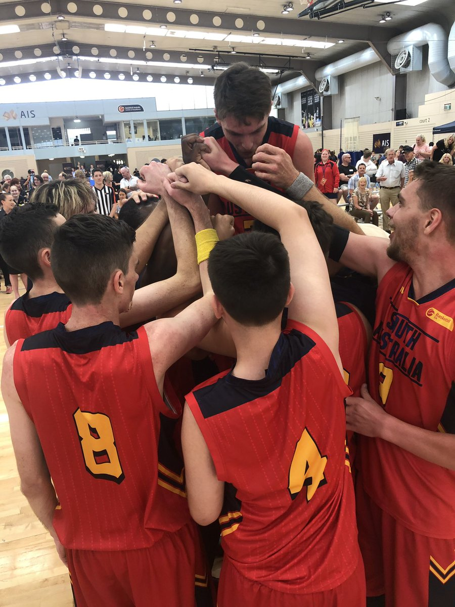 After making the gold medal game 4 years in a row, @BasketballSA_ have broken through to win their first ever Ivor Burge men's Championship with an 85-76 victory over Victoria!  #AusChamps