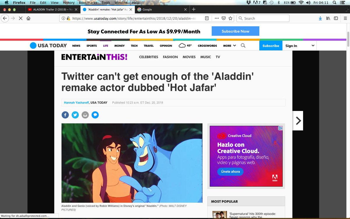 Everybody´s distracted by the #WillSmithGenie while #Jafar´s character is dragged through the mud. Look at this slander. This has gone long enough!  #Aladdin2019 #Genie #Disney #Aladdintrailer #Aladdin<br>http://pic.twitter.com/cKfeBpKjtb