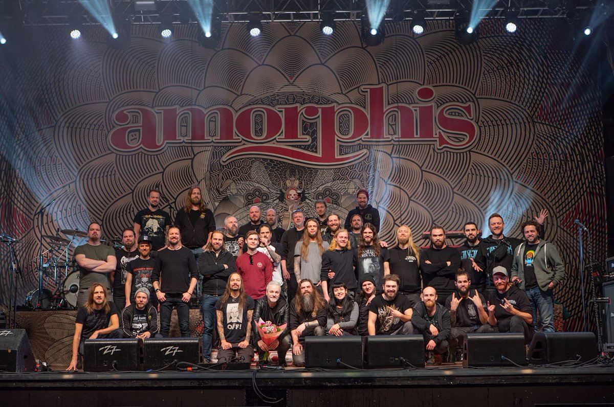👋 #soilwork #jinjer #nailedtoobscurity it's been a pleasure to tour 5 weeks with you! 🇸🇪🇩🇰🇩🇪🇺🇦🇫🇮 Hats off to our fantastic crew👊 Thank YOU for coming out, showing massive support from city to city👏👏  #amorphis #queenoftimetour #queenoftimetour2019 #greybeardcm #cobraagency https://t.co/O5vg0XQdWd