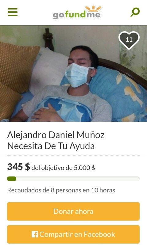 #16Feb #ServicioPúblico A todos los que puedan colaborar con Alejandro Daniel   https://www.gofundme.com/f/ref27t-alejandro-daniel-munoz-necesita-de-tu-ayuda…