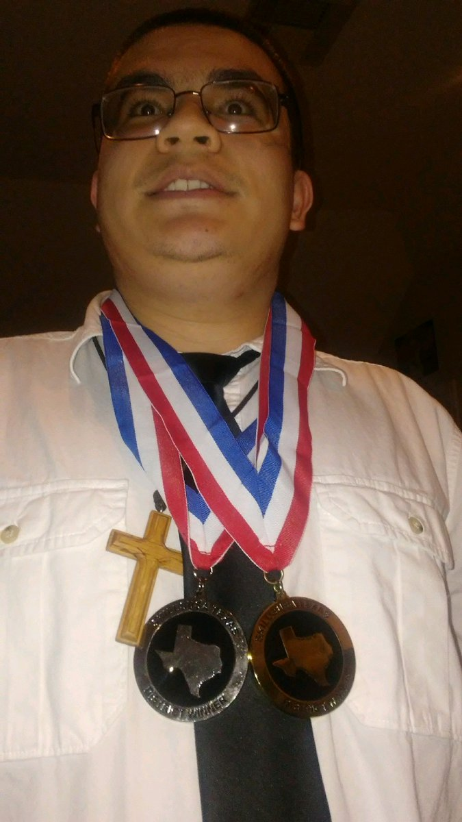 Today( Feb. 16, 2019 ) I went to a SkillsUsa Texas district 9 conference in Rosenberg at the TSTC Fort Bend College Campus and I earned a silver and a gold medal. ( not trying to boast or anything) <br>http://pic.twitter.com/4r9gfNzthS