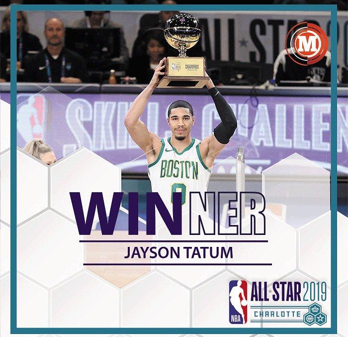 #MarcadorASG🏀 Jayson Tatum de los Boston Celtics gana la competencia de habilidades 2019.