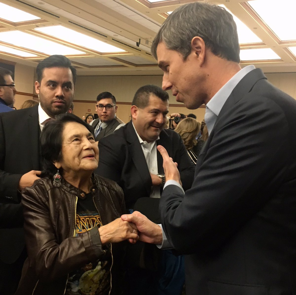Huge honor to be with all time American hero Dolores Huerta.