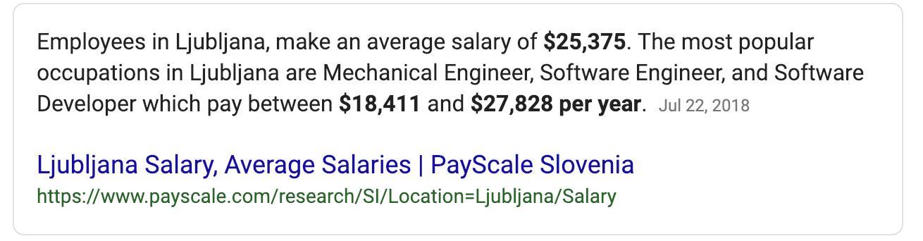 "Google result for ""Slovenia median wage"""