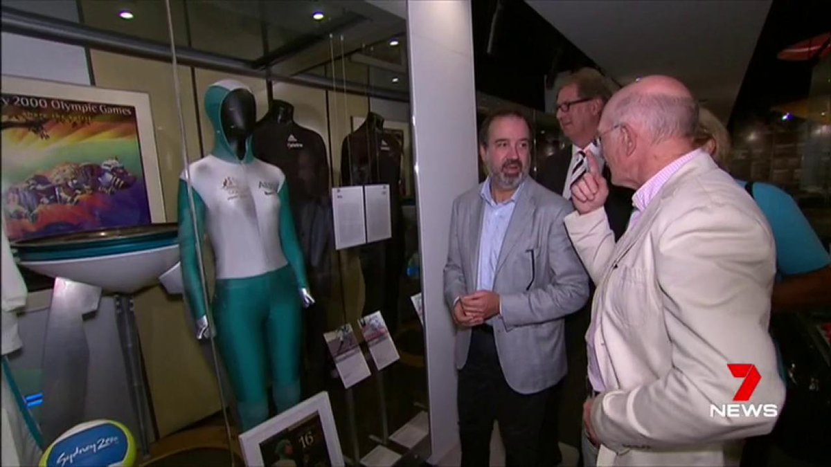 Two sporting legends - one a swimmer, the other a footy great - have relived their glories at the @MCG. Shane Gould and Kevin Bartlett visited the National Sports Museum, which is due to close down soon for a $17 million makeover. @GeorgiaComensol #7News